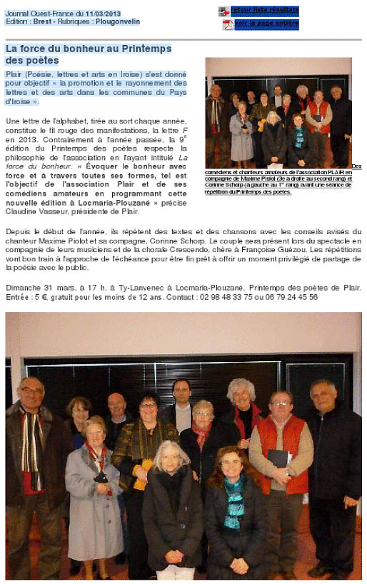 Evnement culturel en Iroise